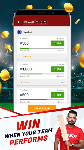 Howzat Fantasy Cricket App - Free Fantasy Games apkdebit screenshots 2
