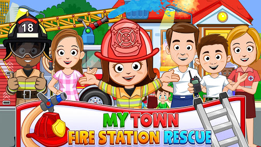 My Town : Fireman & Fire Station KIDS Game modiapk screenshots 1