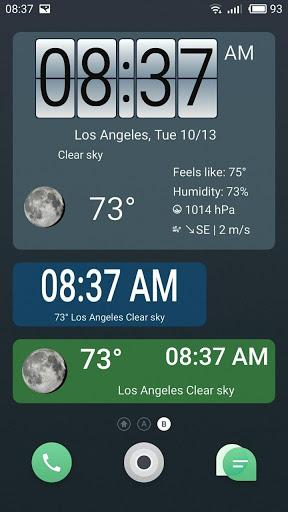 Weather forecast & transparent clock widget  Screenshots 2
