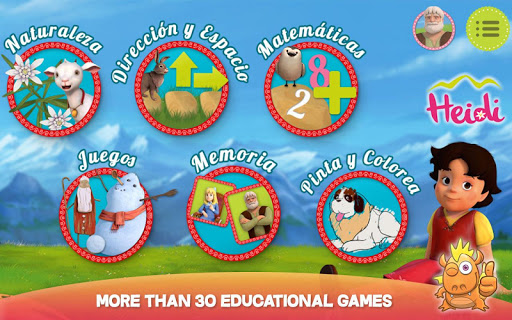 Heidi: best toddler fun games 7.0 Screenshots 1