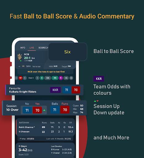 Live Line & Cricket Scores - Cricket Exchange  Screenshots 2