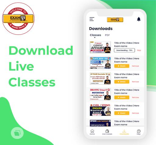 Exampur Official - Live Classes Quiz PDF NTPC UPSI 5.3.0 Screenshots 3