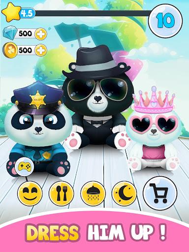 Pu - Cute giant panda bear, virtual pet care game 3.1 screenshots 9