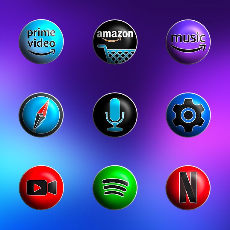 Pixly Fluo 3D - Icon Pack  poster 4