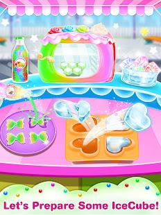Unicorn icy slush maker-frozen food game