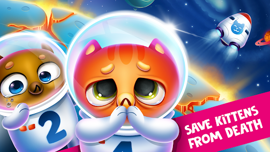 Space Cat Evolution: Kitty collecting in galaxy Screenshot
