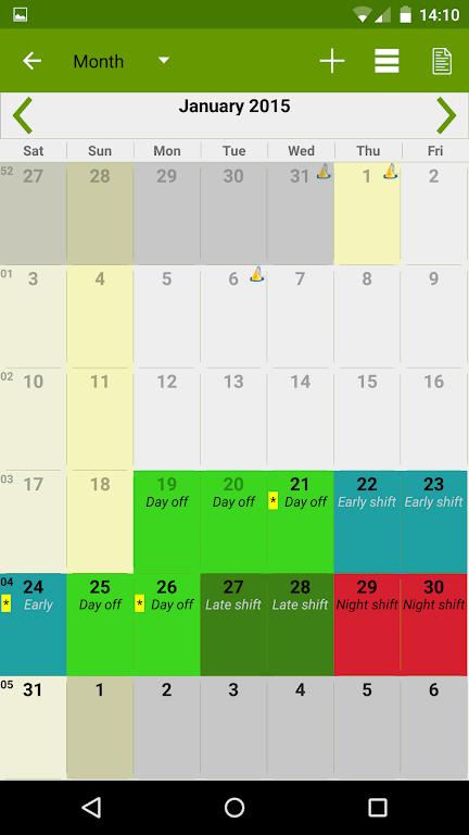 Shift Work Calendar (FlexR Pro)  poster 4