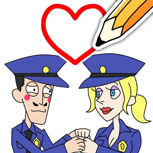 Draw Happy Police