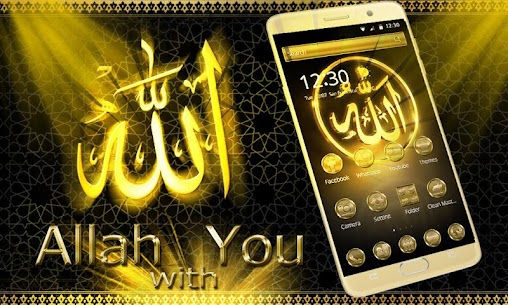 Allah Gold Theme Wallpaper For Pc (Windows And Mac) Download Now 1