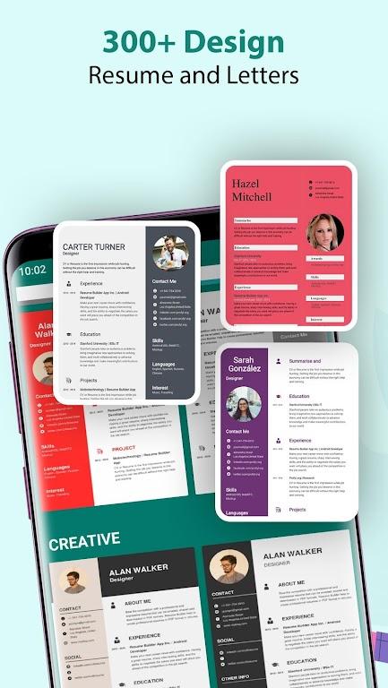Resume Builder & CV Maker - PDF Template Editor  poster 3