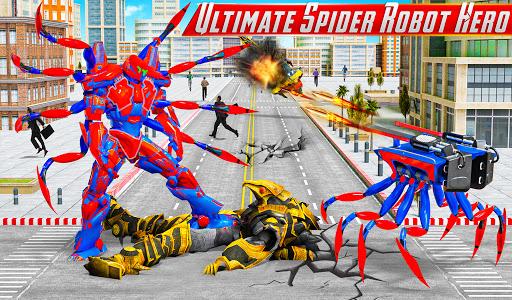 Spider Robot Car Game u2013 Robot Transforming Games android2mod screenshots 6