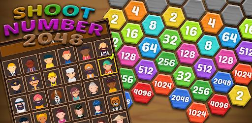 Shoot Number 2048 - Hexa Bubble Shooter  screenshots 8
