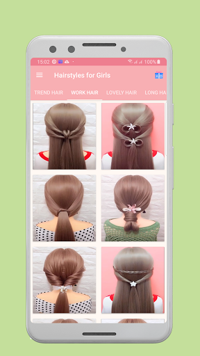 Girls Hairstyles Step by Step 1.0 screenshots 2