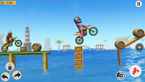 Beach Bike Stunts Game: Crazy Bike Stunts on Ramps apkmr screenshots 12