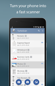 TurboScan scan documents and receipts in PDF 1