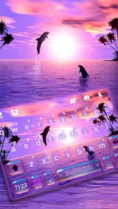 Sunset Sea Dolphin Keyboard Theme 1
