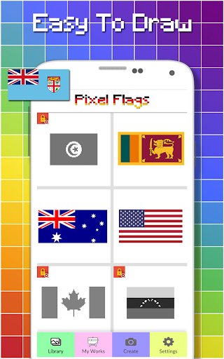 Flags Color By Number - Pixel Art  screenshots 6