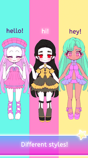Mimistar - Pastel chibi doll girl dress up maker  screenshots 2