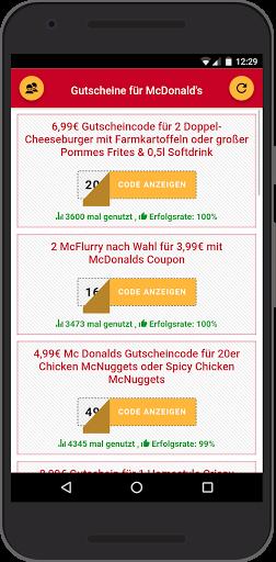 Gutscheine fu00fcr McDonald's 0.0.9 Screenshots 1