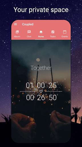 Coupled - Relationship Tracker, Love Days Calendar  screenshots 1