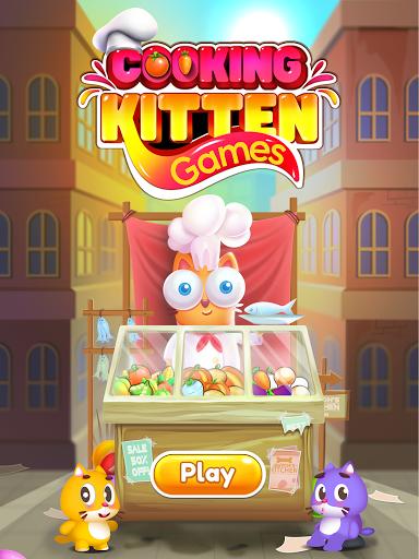 Kitten Games - Bubble Shooter Cooking Game apkmr screenshots 11