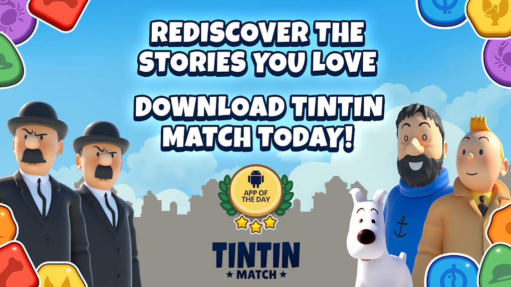 Tintin Match: Solve puzzles & mysteries together! poster 3