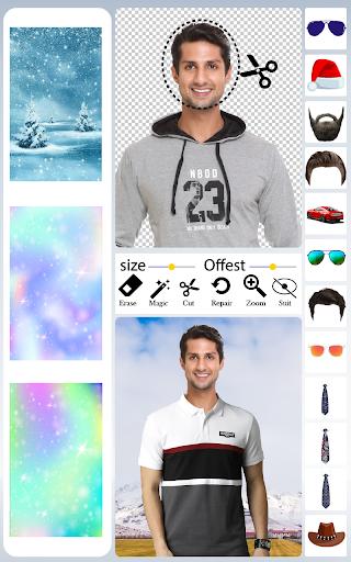 Men T-Shirt Photo Editor and Sweatshirt Dress apktram screenshots 7