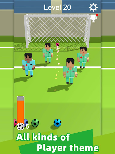 Straight Strike - 3D soccer shot game screenshots 8
