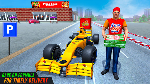 Formula Car Pizza Delivery New Car Driving Game screenshots 1