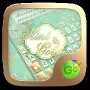 Mint & Gold GO Keyboard theme  Icon