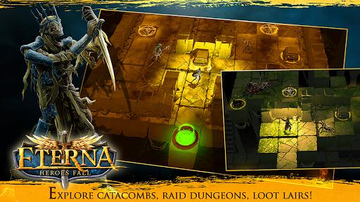 Code Triche Eterna: Heroes Fall - Deep RPG apk mod screenshots 3