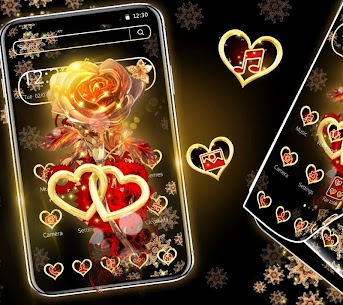 Red Gold Shiny Rose Theme 1.1.2 Mod APK Latest Version 2