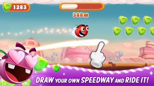 sweet racer - draw & slide in candyworld! screenshot 1