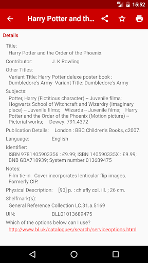 Web Opac: 1,000+ libraries 6.2.8 screenshots 2