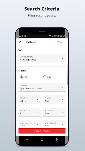 homegate.ch - apartments to rent and houses to buy 10.4.1 Screenshots 2