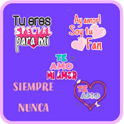 Stickers de Amor Frases Animados Para WhatsApp