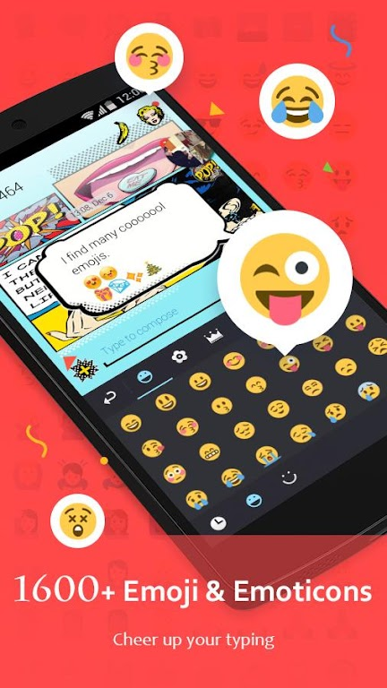 GO Keyboard - Cute Emojis, Themes and GIFs  poster 3