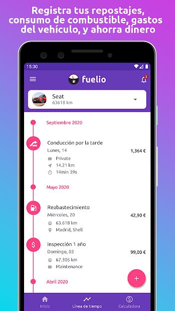 Screenshot 3 de Fuelio: Combustible y gastos para android