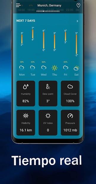 Captura de Pantalla 4 de Tiempo en vivo - Pronóstico del tiempo 2020 para android