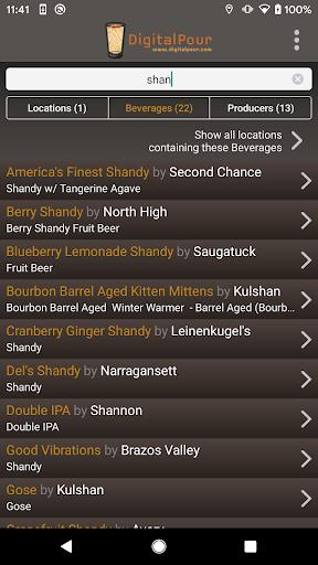 DigitalPour: Pocket Beer Menu 3.2 Screenshots 2
