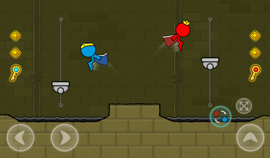 Red and Blue Stickman : Animation Parkour Screenshot