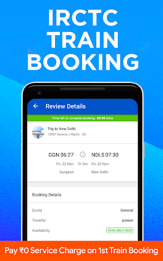 IRCTC Train Booking, PNR Status, Running Status apktram screenshots 1