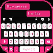 Pink Black Chat Keyboard Theme