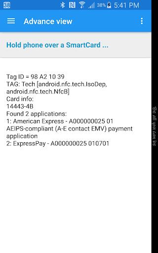 NFC Smart Card Info  screenshots 3