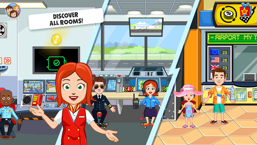 My Town : Airport. Free Airplane Games for kids  screenshots 18