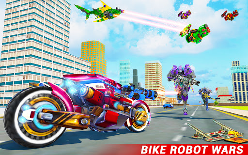 Shark Robot Car Game - Tornado Robot Bike Games 3d 1.1.1 screenshots 2