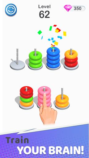 Color Sort Puzzle: Color Hoop Stack Puzzle 1.0.12 screenshots 3