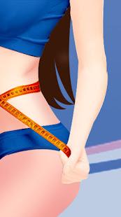 Small waist and big hips