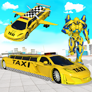 Flying Limo Car Taxi Helicopter Car Robot Games