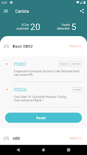 Carista OBD2 Screenshot